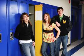 Teens at Locker